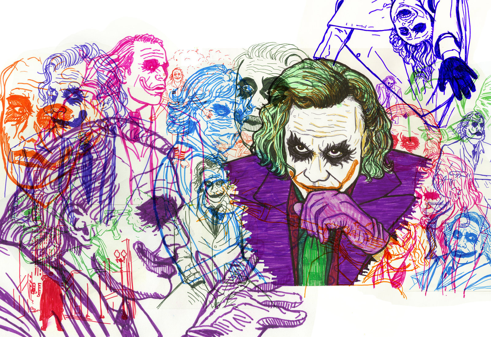 GreenWhimsy||https://greenwhimsy.deviantart.com/art/Heath-Ledger-as-the-Joker-126411216
