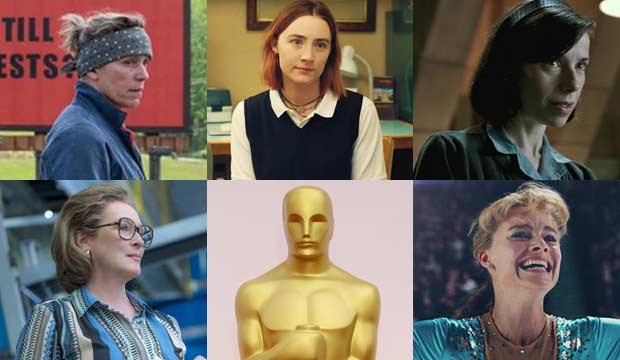 Fox Searchlight; A24; Neon; 20th Century Fox; Mike Nelson / Epa/REX/Shutterstock||http://www.goldderby.com/article/2018/2018-oscars-best-actress-best-picture-lineups-match/